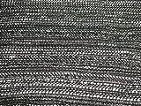 gewebter Jackenstoff/Mantelstoff schwarz Glitzerfäden