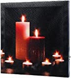 infactory LED-Leinwandbild mit romantischem Kerzenflackern Modern Times