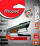 Maped Universal Metal 044900 Agrafeuse mini 24/6 26/6 + 400 Agrafes Coloris Aléatoire