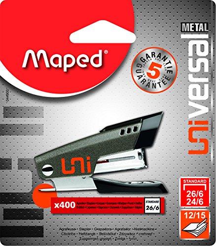 Maped Universal Metal 044900 Agrafeuse mini 24/6 26/6 + 400...
