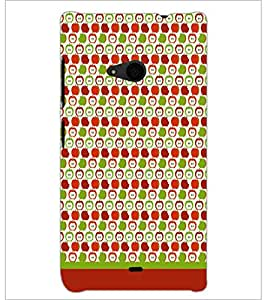 PrintDhaba Pattern D-1893 Back Case Cover for MICROSOFT LUMIA 535 (Multi-Coloured)