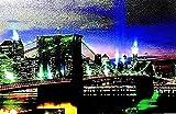 IMMAGINE MURALE LED BROOKLYN BRIDGE NEW YORK PONTE MOLTO GRANDE 40*60CM - Tinas Collection