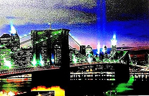 IMAGE LED/DEL BROOKLYN BRIDGE NEW YORK PONT TRÉS GRAND 40*60CM - Tinas Collection