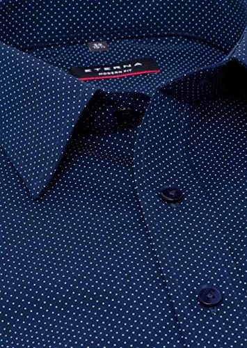 ETERNA Modern Fit Hemd extra langer Arm Punkte blau AL 68 Blau