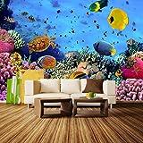 Fototapete Korallenriff mit Fischen Vlies Tapete Wandtapete - Tapete - Moderne Wanddeko - Wandbilder - Fotogeschenke - Wand Dekoration wandmotiv24 Größe: M 250 x 175 cm - 5 Teile - Vlies