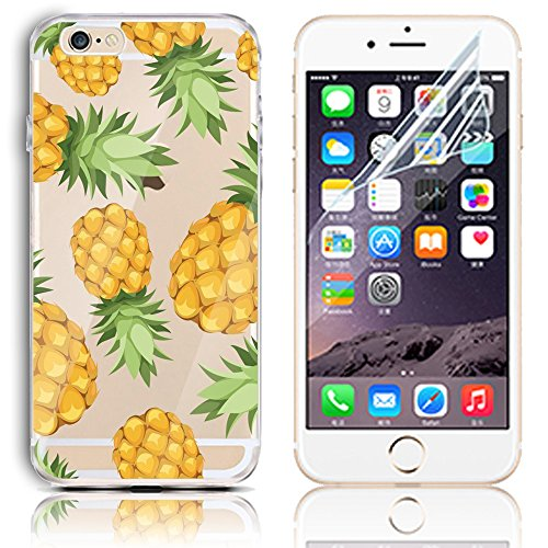 Coque iPhone 6s Plus, Coque iPhone 6 Plus (5.5) Transparent Etui Housse de Protection TPU Silicone Gel Souple Clair Crystal Case Cover Sunroyal® Ultra Mince Premium Telephone Portable Skin Hybrid Clea Motif 30
