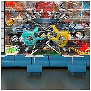 azutura Guitar & Music Wall Mural Graffiti Photo Wallpaper Kids Bedroom Home Decor available in 8 Sizes X-Large Digital
