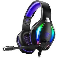 Fachixy Cuffie Gaming con Luce RGB, Cuffie da Gaming con Eliminazione del Rumore con Microfono, Cuffie da Gioco Stereo…