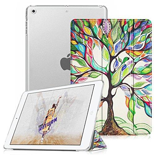 Fintie iPad Mini Hülle - Ultradünne Superleicht Schutzhülle mit transparenter Rückseite Abdeckung Smart Case mit Auto Schlaf/Wach Funktion für Apple iPad Mini/iPad Mini 2 / iPad Mini 3, Liebesbaum