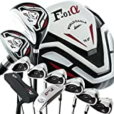 Monde Eagle F-f-01Alfa Ensemble de golf pour homme sans sac gauche Flex-s 13