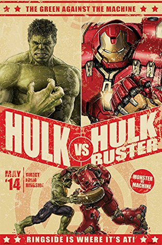 1art1-84040-The-Avengers-2-Age-Of-Ultron-Hulk-Vs-Hulkbuster-Poster-91-x-61-cm