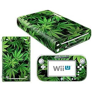 Nintendo Wii U Skin Design Foils Aufkleber Schutzfolie Set – Cannabis 5 Motiv