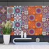 JY ART Küche Fliesen-Aufkleber Wandkunst Bad Wasserdicht Wandaufkleber Home Moderne Dekoration Fliesen aufkleben, 20cm*5m