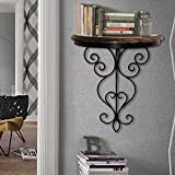Beautiful wood & iron hand forged wall b...