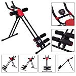HOPZ Red and Black Color Stainless Steel Adjustable Design 8 Pack Advance Tummy Trimmer Body Abs Excerciser Machine Gym...
