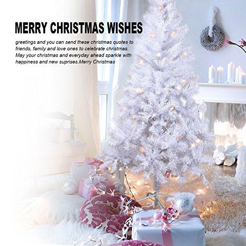7192fd5378619 ... 180cm Árbol de Navidad artificial árboles C Soporte metálico 120-210cm  (Blanco