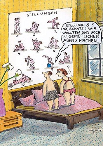 """Postkarte A6 • 43005 """"Stellung Nr. 8"""" von Inkognito • Künstler: Papan • Satire • Cartoons • Sex • Liebe & Romantik"""