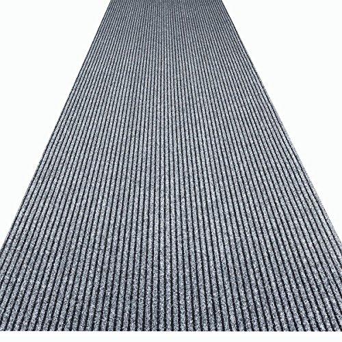 havatex Küchenteppich/Küchenmatte / Teppichläufer Event - schadstoffgeprüft | pflegeleicht strapazierfähig schmutzabweisend | Küche Flur Büro Eingang Diele, Farbe:Grau, Größe:100 x 350 cm