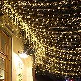 Lichterkette LED 200er Innen Warmweiss Romantisch Strombetrieben Transparent fuer Zimmer Bett Hochzeit Party Schlafzimmer Weihnachten Tannenbaum 8 Funktiontyp-Memory-Verl?ngerbar Party Licherketten
