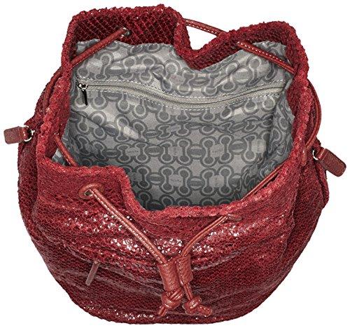 Borsette Da Donna Boscha Zainetto, 23x37x19 Cm Rosso (merlot 084)
