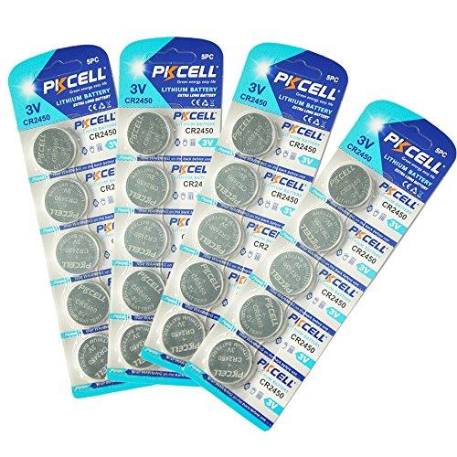 Pkcell 3v cr2450 2450 ecr2450 kcr2450 5029lc lm2450 batteria della moneta della cella del tasto(20pcs)