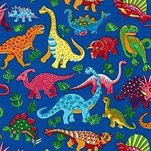 Fat Quarter de dinosaurios, de algodón azul, Tela Para quilting (almazuela)–50x 45x 55cm–Nutex