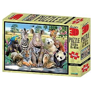 MAGNI-Fauna Puzzle 3D, 500Piezas, 2526