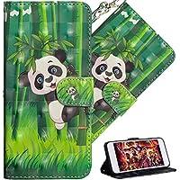 HMTECH Galaxy J8 2018 Hülle Luxus 3D Süßes Panda Grüner Bambus Flip Standfunktion Karten Slot Magnetverschluß... preisvergleich bei billige-tabletten.eu
