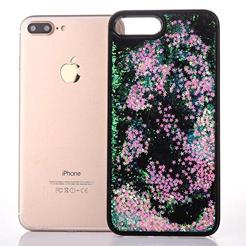 iphone 7 hülle flüssig, LuckyW PC Hardcase Handyhülle für Apple iPhone 7 7S(4.7 zoll) 3D Bling Glitter Glitzer Flowing Fließend Liquid Flüssig Shinny Moving Star Floating Trend Schwimmend Treibend Ste Rosa Stern