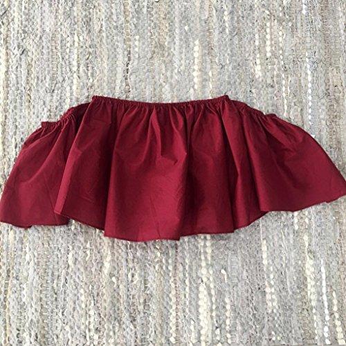 Blusen,WINWINTOM Frauen Sommer weg von der Schulter Oberseite beiläufiges Blusen T-Shirt Rot