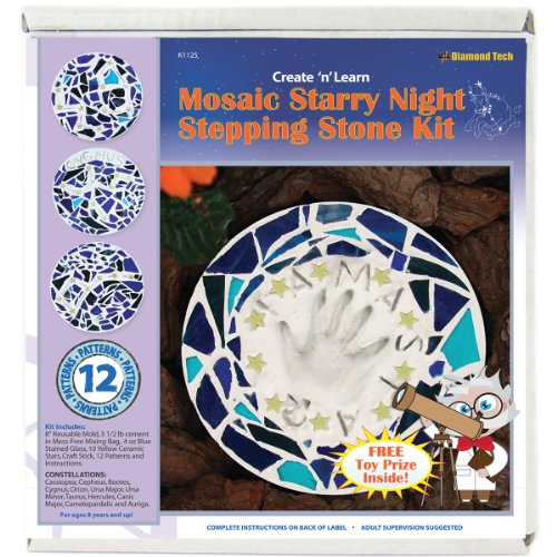Diamond Tech Crafts Mosaic Stepping Stone Kit-Starry Night, Other, Multicoloured