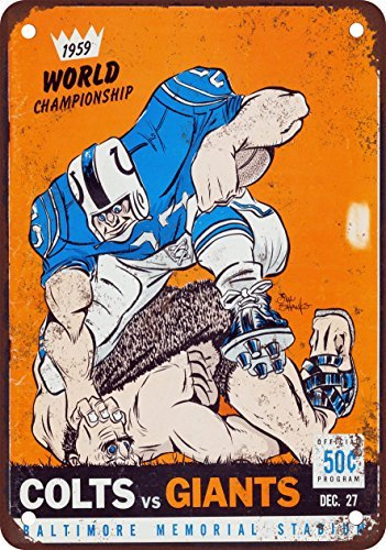 1959-colts-vs-giants-championship-vintage-look-reproduktion-metall-blechschild-203-x-305-cm
