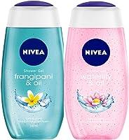 NIVEA Shower Gel, Frangipani & Oil, 250ml and NIVEA Shower Gel, Waterlilly & Oil, 250ml