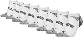 Puma No Show Men's Socks, 8 Pack white grey UK 9-11