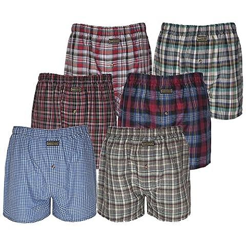 Boxershorts, Herren, Unterwäsche mit elastischem Bund, Baumwoll-Polyester-Mischgewebe Gr. Medium, (Mens Classics Woven Boxer)