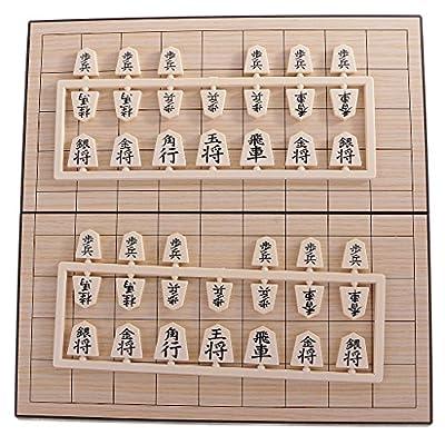 Gazechimp Jeu d'Echecs Shogi Japonais Magnétique Tableau Pliant Jouet Voyage Cadeau Enfants Adultes - 24X24cm