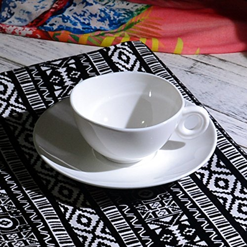 HONGYUANZHANG Kaffee Tasse Keramik Kaffeetasse Weiß Kaffeetasse Hotel Restaurant Kaffee Tasse (150...