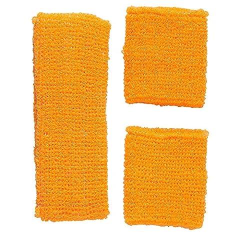 Sport Thèmes Costume Idées - Orange Fluo Bijoux Bracelets pour adulte–Taille