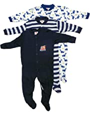 Mini Berry Unisex Cotton Full Sleeves Rompers in Black Color -Set of 3Pcs