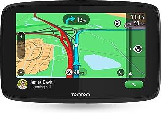 TomTom GO Essential Pkw-Navi (15,2cm (6 Zoll), mit Freisprechen, Siri und Google Now, Updates über Wi-Fi, Lebenslang Traffic und Karten für 49 Länder, Smartphone-Benachrichtigungen)