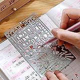 Gabbrein Zeichen-Schablonen aus Edelstahl, 4Stück, multifunktional, Vorlage zum Zeichnen/Malen, für Tagebuch, Scrapbooking, Karten