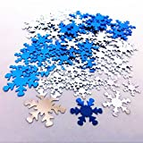 Dealglad 1000pz blu argento PVC glitter Christmas Snowflake paillettes paillette coriandoli per matrimonio festa di compleanno decorazione DIY Crafts 30mm 20mm 13mm