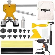 Mookis pdr ausbeulwerkzeug Paintless Auto Dellen Repair Puller Kits 34pcs mit Kleber Heißklebepistole Gummihammer und Beule Lifter usw.
