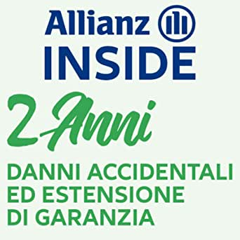 Allianz Inside, Il Valore della Copertura assicurativa Danni accidentali ed Estensione di Garanzia con validità di Due Anni per Cellulare è compreso tra 100.00 € e 149.99 €