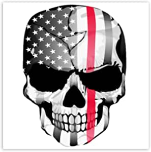Skinoeu Pack Of 2 Vinyl Sticker Car Sticker Skull Bone Usa Flag United States Of America Horror Stickers Car Moto Motorcycle Bike Helmet Window Tuning B 42 Auto