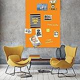 Magnetische Tafel und Möbelfolie 1m x 1,5m -orange-