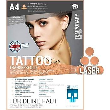 10 Blatt Diy A4 Temporare Tattoo Transfer Papier Bedruckbar Fur