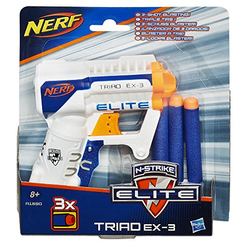 Hasbro Nerf A1690EU4 N-Strike Elite Triad, Spielzeugblaster