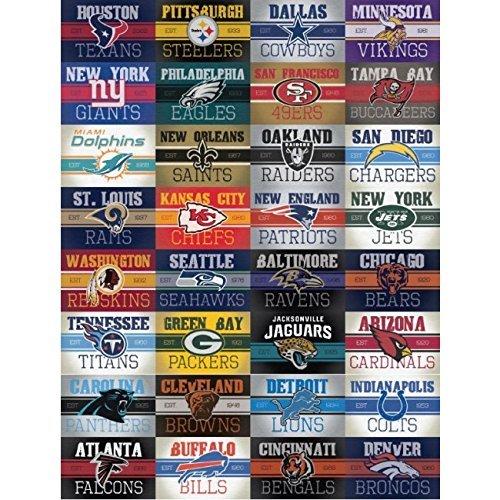A & A Global Industries NFL Vintage Aufkleber Set Komplett 32Teams Logo Helm Aufkleber (Nfl Party Supplies)