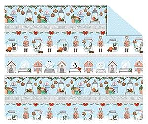 Ursus 11504602Cartulina Invierno Navidad, 300g/m², DIN A4, diseño 02, Multicolor